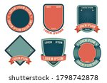 retro badge template with... | Shutterstock .eps vector #1798742878