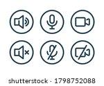 speaker  mic and video camera... | Shutterstock .eps vector #1798752088