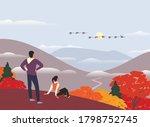 autumn nature landscape...   Shutterstock .eps vector #1798752745