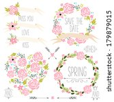 wedding graphic set  wreath ... | Shutterstock .eps vector #179879015