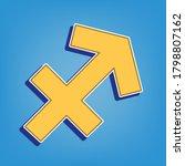 sagittarius sign illustration.... | Shutterstock .eps vector #1798807162