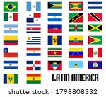 flags of latin american... | Shutterstock . vector #1798808332