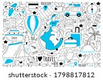 travel doodle set. collection...   Shutterstock .eps vector #1798817812
