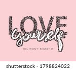 love yourself slogan text in... | Shutterstock .eps vector #1798824022