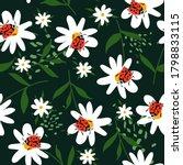 Seamless Pattern  Ladybugs And...