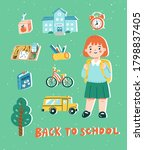 Back To School Concept In Cute...