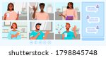 video call and conference... | Shutterstock .eps vector #1798845748