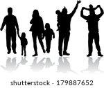 family silhouettes | Shutterstock .eps vector #179887652