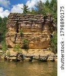Sandstone River Rock Formations ...