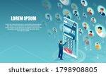 vector of a virtual... | Shutterstock .eps vector #1798908805