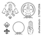 scout symbols and design... | Shutterstock .eps vector #179891306