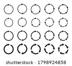 different circular arrows of... | Shutterstock .eps vector #1798924858