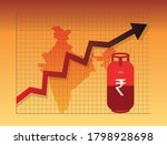 lpg gas cylinder price hike in... | Shutterstock .eps vector #1798928698