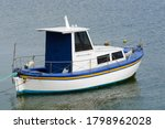 White Fishing Motor Boat...