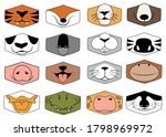 set of animal faces. collection ... | Shutterstock .eps vector #1798969972