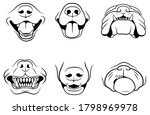 set of dogs face. collection of ... | Shutterstock .eps vector #1798969978