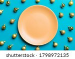 Top View Of Festive Plate With...