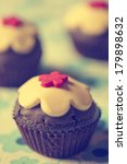 vintage photo of muffin with... | Shutterstock . vector #179898632