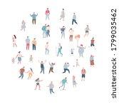 crowd. different people vector... | Shutterstock .eps vector #1799035462