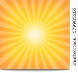 sun sunburst pattern | Shutterstock . vector #179905202