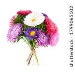 aster flower bouquet on white... | Shutterstock . vector #1799065102