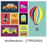 transport vehicles flat design... | Shutterstock .eps vector #179910416