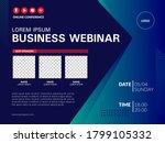 invitation banner to the online ... | Shutterstock .eps vector #1799105332