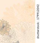 hand drawn chrysanthemum... | Shutterstock .eps vector #179912042
