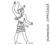 God Baal. Figure Of Ancient Man ...