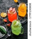 variety of fresh summer... | Shutterstock . vector #1799130808