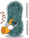 thermotogae musician of cartoon ... | Shutterstock .eps vector #1799155915