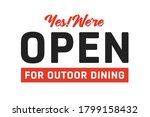open for outdoor dining vector...   Shutterstock .eps vector #1799158432