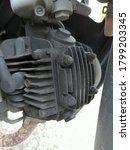Motorcycle Engine Coated With...