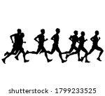 young athletes run a marathon.... | Shutterstock . vector #1799233525