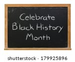 celebrate black history month... | Shutterstock . vector #179925896