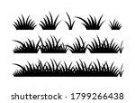 black silhouette grass vector ... | Shutterstock .eps vector #1799266438