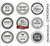 vintage styled premium quality... | Shutterstock . vector #1799290945