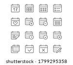 calendar thin line icon.... | Shutterstock .eps vector #1799295358