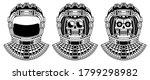 spaceman skull. modern space...   Shutterstock .eps vector #1799298982