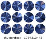 blue circular metallic gradient ...