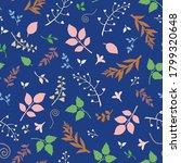 vector seamless floral pattern...   Shutterstock .eps vector #1799320648