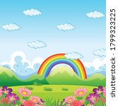 nature flowers sky flat icon... | Shutterstock .eps vector #1799323225