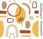 seamless pattern. autumn yellow ... | Shutterstock .eps vector #1799362105