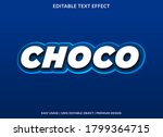 choco text effect template with ... | Shutterstock .eps vector #1799364715
