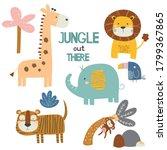 jungle fun illustrations ... | Shutterstock .eps vector #1799367865
