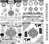 set of black and white... | Shutterstock .eps vector #1799374498