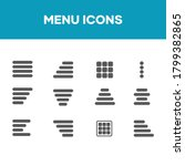 menu icon set flat design. good ...