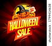 happy halloween sale vector... | Shutterstock .eps vector #1799414638