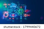 online education web platform... | Shutterstock .eps vector #1799440672