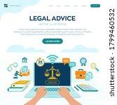 online legal advice concept.... | Shutterstock .eps vector #1799460532